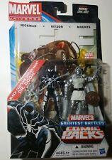 Marvel Universe TRU Greatest Battles Black Costume Spiderman Dr Doom Comic Pack!