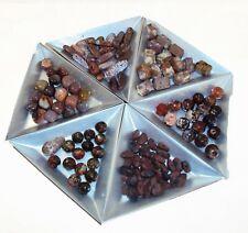 Semi Precious Stone Bead Lot, Jasper, Obsidian, Agate Bead Mixes