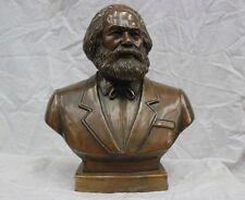"""11"""" bronze grand allemand carl heinrich marx bust statue"""