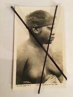 ANTIQUE VINTAGE OLD PHOTO POSTCARD ABORIGINAL WOMAN Winnie Belle Of The Camp