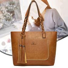 Women Faux Leather Handbags Tote Shoulder Bag Messenger Satchel Crossbody Purse