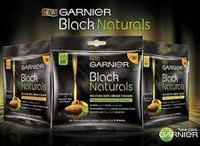 3 x Garnier Black Naturals Almond Oil Enriched Cream Hair Color 1.0 deep black