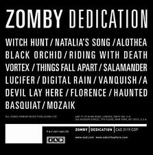 Zomby-Dedication CD NEW BRAND NEW FACTORY SEALED COMPACT DISC