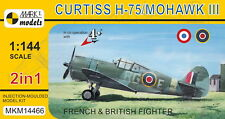 Mark I Models 1/144 Curtiss H-75 Hawk / Mohawk III in French and British (2in1)