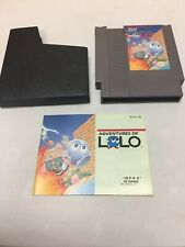 ADVENTURES OF LOLO NES Nintendo Very Good With Manual And Sleeve Tested