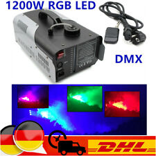 1200W RGB LED Nebelmaschine Kabellos Fernbedienung DMX Rauchmaschine DJ Disco
