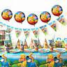 Winnie the Pooh Birthday Party Boys Tableware Decoration Kids Tablecloth Balloon
