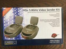 Nikkai HQ + Receptor Inalámbrico 5.8GHz remitente de vídeo AV Kit-vea TV en cualquier habitación.