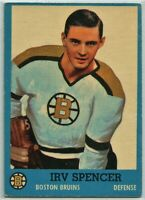 1962-63 Topps Hockey #17 Irv Spencer VG-EX Condition (2020-13)