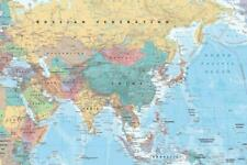 Asia and Middle East Map Reference Chart Poster 36x24
