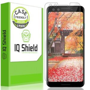 2x IQ Shield Clear Screen Protector for Google Pixel 3 (Case Friendly)