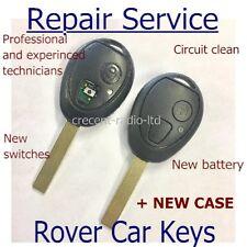 Mg Rover 75 2 button remote key fob REPAIR SERVICE complete refurbishment