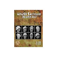 Scale 75 War Front 8 German Spare Heads WW2 set Unpainted 1/35th resin kit
