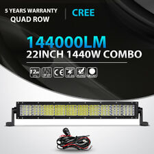 "Quad Row 22inch 1440W LED Light Bar Combo Offroad Jeep Ford Truck ATV Car 20""24"""