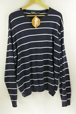 ATHLETIC Mens RALPH LAUREN Jumper PIMA STRIPED KNIT Sweater XXL XX LARGE P41