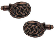 Bronze Celtic Knot Cufflinks Direct from Cuff-Daddy