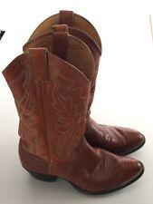 VINTAGE JUSTIN  Peanut Brittle Lizard Made In USA  Cowboy Boots Mens 8 1/2 D EUC