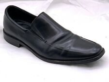 Mens black leather Banana Republic slip on dress loafers shoes sz 11.5