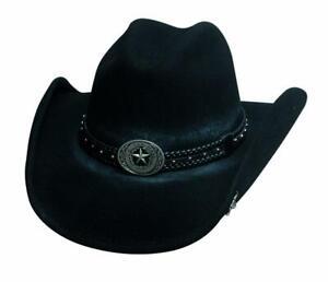 STRAY BULLET Black QUALITY Premium Wool Western Cowboy Hat Bullhide MonteCarlo