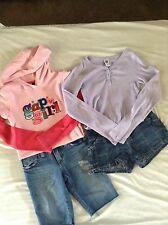 Gap kids Girls Size 7-8 M Jean Shorts long sleeve Shirt hoodie Gapkids lot of 4