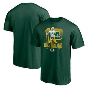Green Bay Packers Aaron Rodgers 12 NFL T Shirt Football Champs Green Cotton Tee