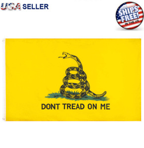 Don't Tread on Me Flag 3x5FT Banner Gadsden Tea Party Patriot Conservative USA