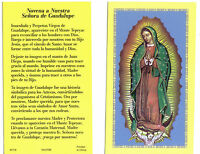 Novena a Nuestra Senora de Guadalupe SPANISH prayer card