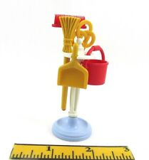 PLAYMOBIL~Dollhouse~Mansion~5322~Kitchen~Tools~Stand~Brooms~Pail~Brush~Dust Pan