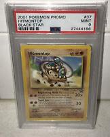 🔥2001 Pokemon Hitmontop #37 Black Star Promo WOTC Card Graded PSA 9 MINT 🔥
