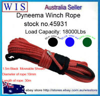 Winch Rope Synthetic Dyneema 10mm x 30m Car Tow Recovery Offroad 4WD Cable-45931