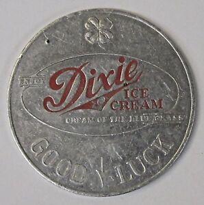 1953 U. KENTUCKY Football Schedule Coin DIXIE Ice Cream Good Luck spinner