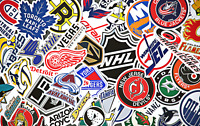 National Hockey League Sticker Sheet, NHL, Hockey, NHL Stickers, Laptop stickers