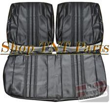 1968 Chevrolet Nova Bench Seat Covers Chevy II Upholstery Skins Black Vinyl SS