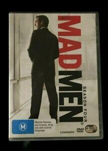 Mad Men : Season 4 (DVD, 2011, 3-Disc Set) Very Good Condition Region 4