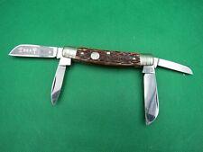 H.Boker German 5464 Brown Jigged Bone 4 Blade Henry Boker Shieldcongress Pocket