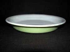 "Vintage 1950's? Pyrex Lime Green Milk Glass 9"" Pie Pan #909"