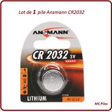 1 pila de botón CR2032 litio Ansmann