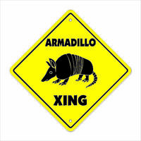 Armadillo Crossing Decal Zone Xing | Indoor/Outdoor | texas rodent road kill