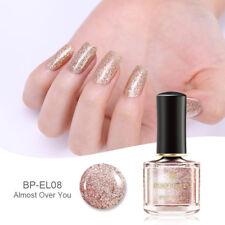 BORN PRETTY 6ml Rose Gold Glitter Nail Polish Pink  Sequins Nail Art Varnish
