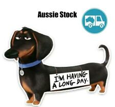 Decal PVC sticker - Dachshund Sausage Dog - Having a Long Day - Car accessory