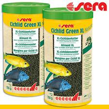 Sera 2x 1000ml Cichlid Green XL Natürlich Fish Food Growth Care Cichlid