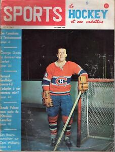1964 (Oct.) Sports Le Hockey Magazine, Claude Provost, Montreal Canadiens ~ Poor
