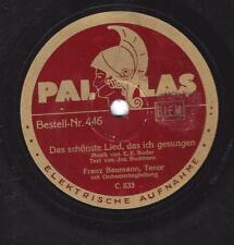 Franz Baumann auf Pallas : Das schönste Lied das ich gesungen