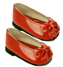 Red Patent Slip On Bow Dress Shoes Fits 18 inch American Girl Dolls