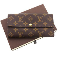 LOUIS VUITTON Portefeuille Sarah Long Wallet Brown Monogram M61734  Auth #Z826 M