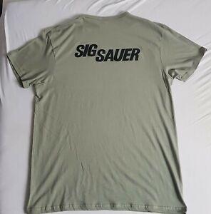 Herren T Shirt Sig Sauer Gr. XL Oliv