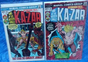 Marvel Comics Astonishing Tales #15 & 16 Lot KA-ZAR Lord Of The Hidden Jungle