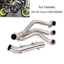 For Yamaha MT-09 FZ09 Tracer XSR900 Motorcycle Exhaust Pipe Slip On 51mm Muffler