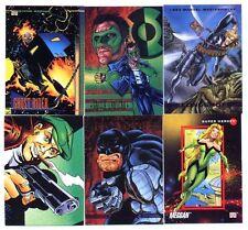 SUPER HEROS/HEROES/VILAINS Lot de 6 Cartes Neuves N° SH 101