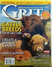Grit Nov Dec 2015 Cattle Breeds For Small Farm Unique Gardens FREE SHIPPING sb